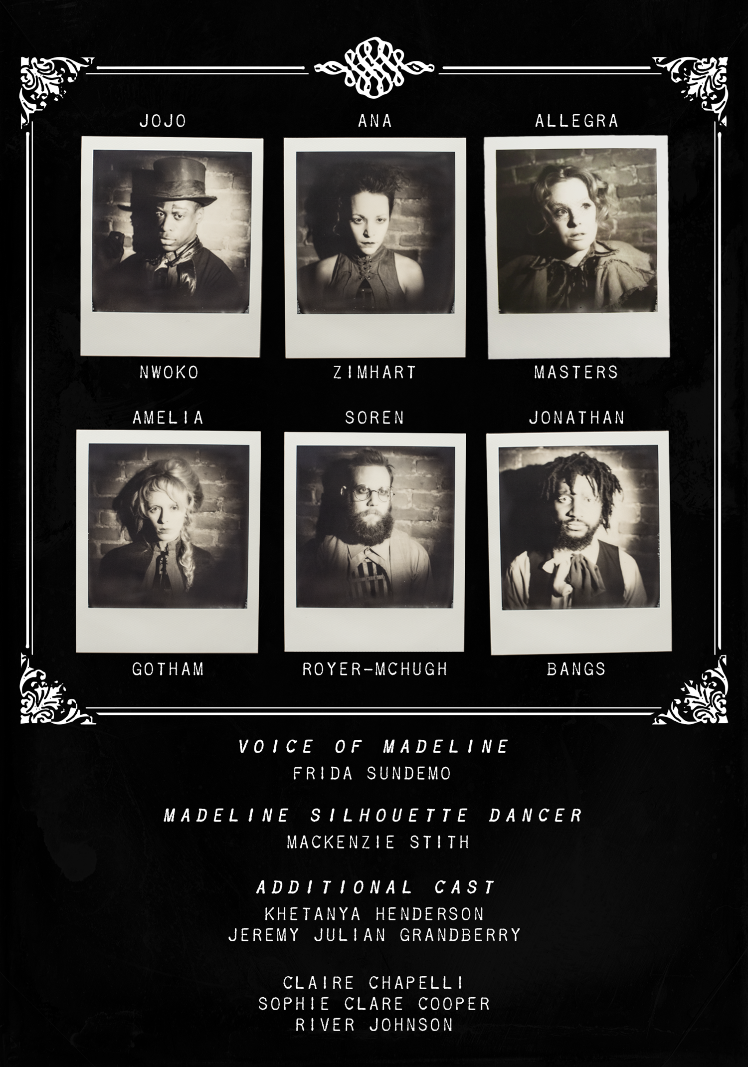 Woolf and the Wondershow - Program Page 3 - Cast